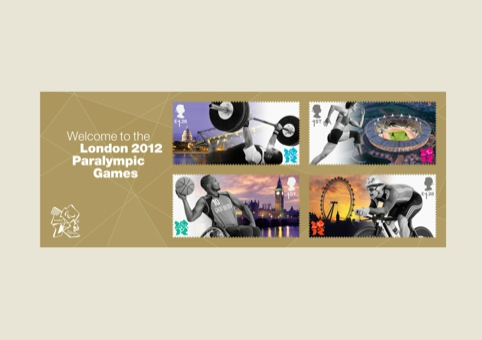 The four Paralympics stamps