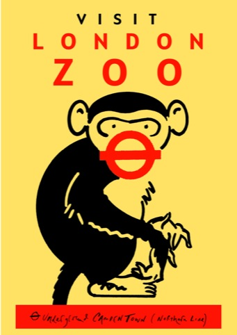 London Zoo poster for TFL 2007. One of several designs, although this one was never used