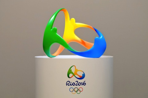 The sculptural version of the Rio 2016 identity