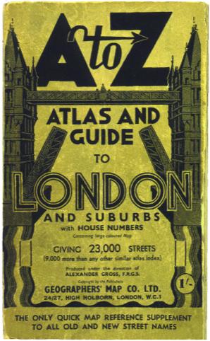 1936 London A-Z
