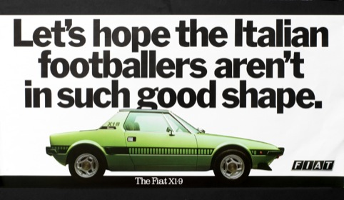 Fiat ad from 1978, by Tony Brignull