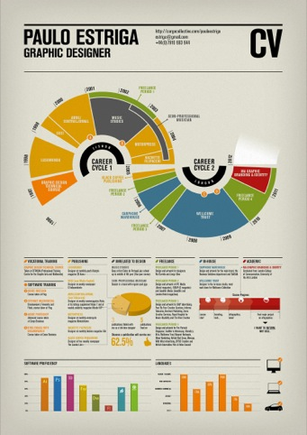 CV, by Paulo Estriga, Bronze award winner in the Infographic/Infodesign category