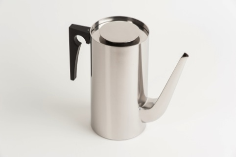 Cylinder Line Coffee Pot designed by Arne Jacobsen, as chosen by Kenneth Grange