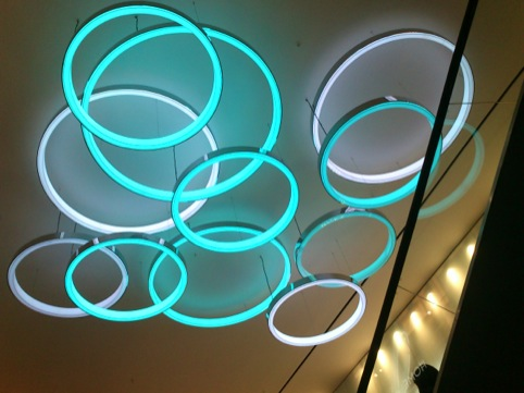 Primark Oxford Street east light fittings