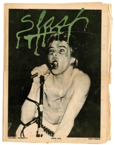 Darby Crash of The Germs, Slash magazine cover, 1978