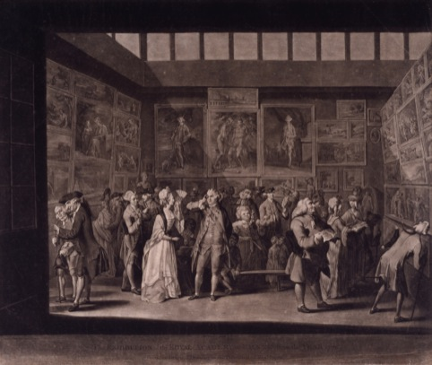 Earlom, after Brandoin, The RA Exhibition 1771