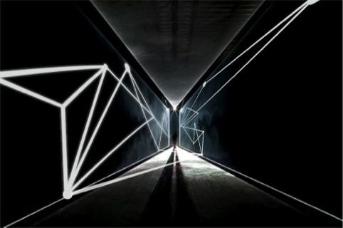 The 100 Design entrance tunnel