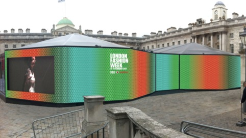 London Fashion Week hoarding mock-up