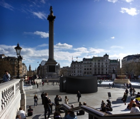 The Trafalgar Square sound portal, part of London Design Festival