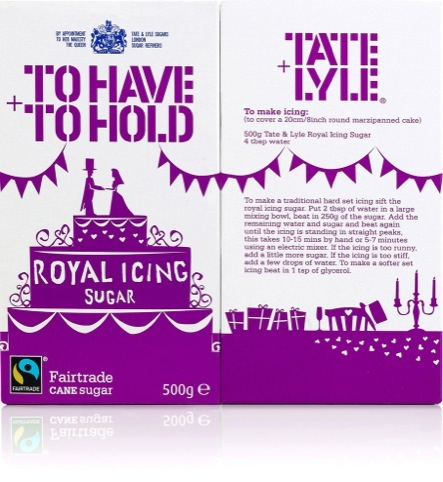 Tate and Lyle Royal Wedding packaging