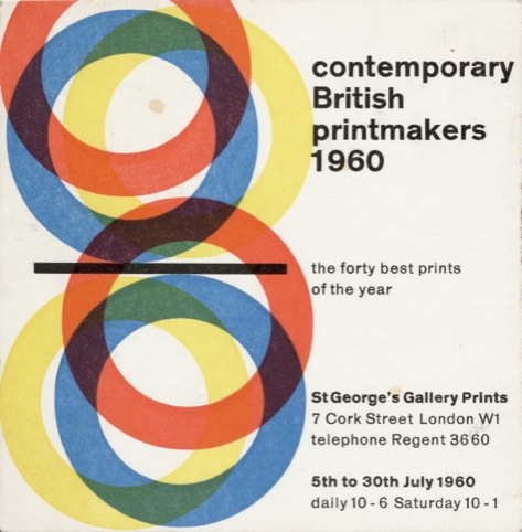 Desmond Jeffery, Contemporary British Printmakers flyer (1960).