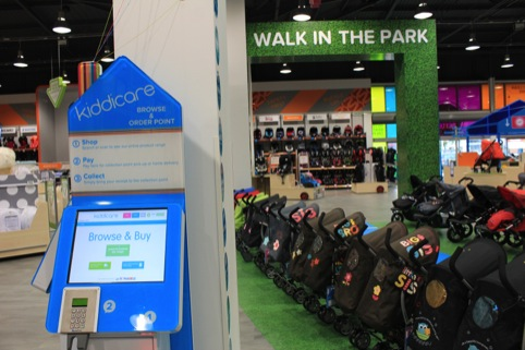 The new in-store kiosk system