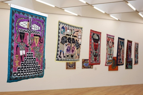 Kafou at Nottingham Contemporary, flags in Gallery 4.