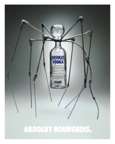 Louise Bourgeois' Absolut design