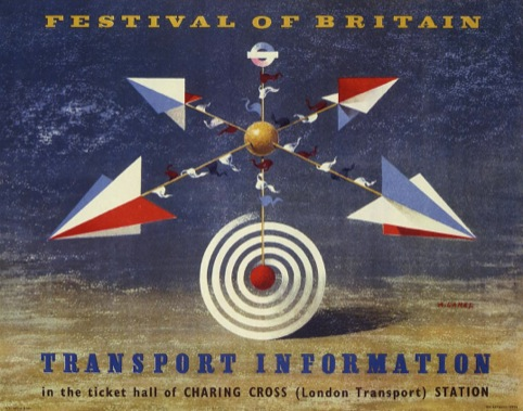 Festival of Britain Transport Information Artwork, by Abram Games, 1951