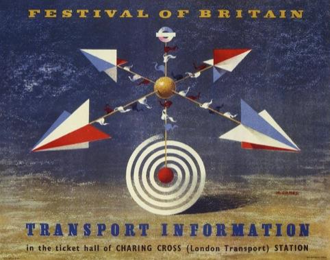 Festival of Britain Transport Information Artwork, by Abram Games, 1951