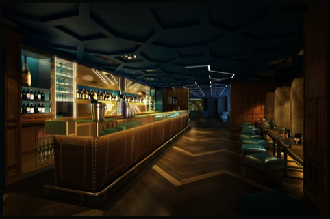 The bar, design by Blacksheep