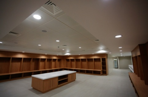 Inside the dressing room