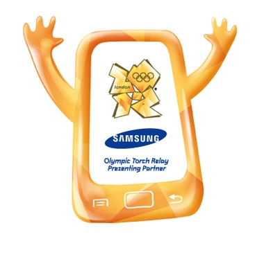 Samsung's Olympic logo, designed by Kate Moross