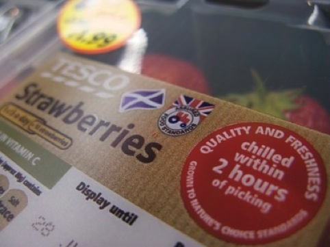 Logos on supermarket packaging