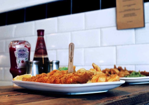 Identity on a fish and chips fork