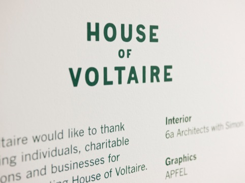 House of Voltaire 2010 branding application