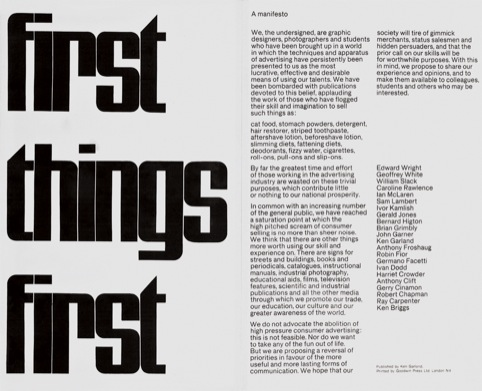 The First Things First Manifesto