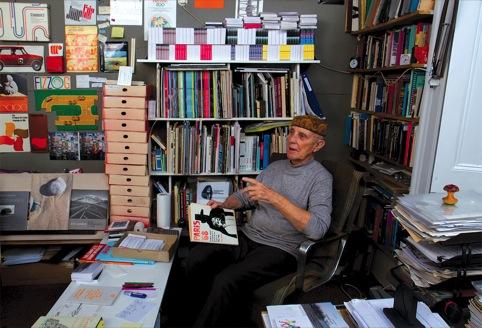 Ken Garland in his studio, 2012
