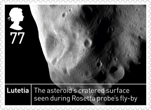 Royal Mail Space Science Lutetia 77p