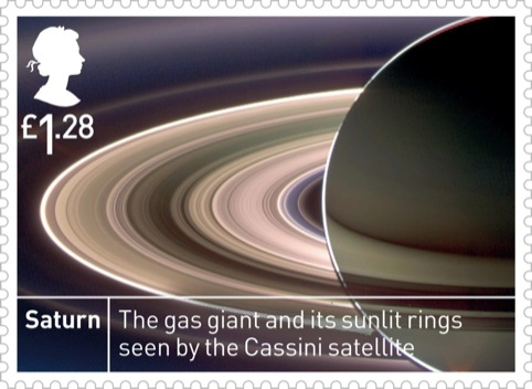 Royal Mail Space Science Saturn £1.28