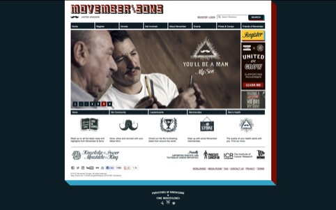 Movember website
