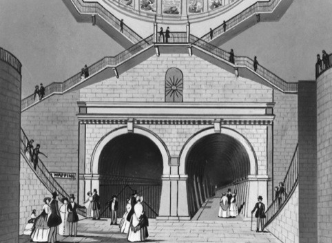 The Thames Tunnel, 1843, from One Things Leads to Another - Everything is Connected