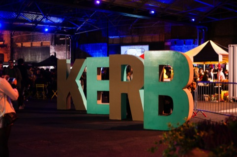 3D lettering at the Kerb launch night