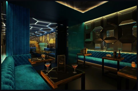 Boujis Hong Kong: The VIP lounge, design by Blacksheep