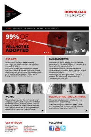 Adopt a Better Way website homepage