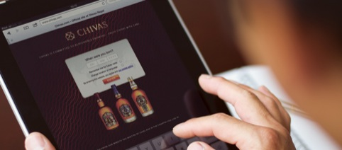 Chivas branding shown on iPad