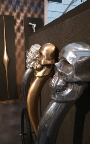 Skull doorhandles, by Philip Watts Design