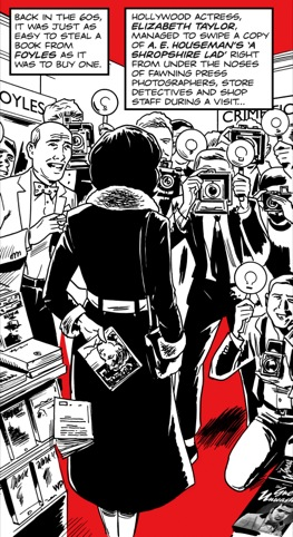 Liz Taylor shoplifting, by Warren Pleece