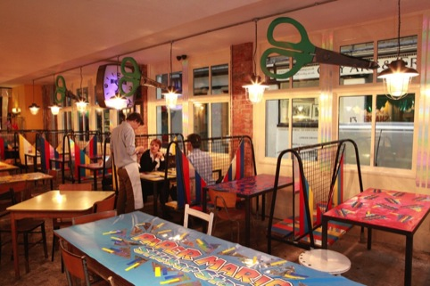 Camille Walala's Mario inspired diner