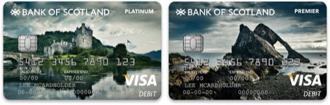 Bank of Scotland credit cards, with photography by Julian Calverley, commissioned by Rufus Leonard