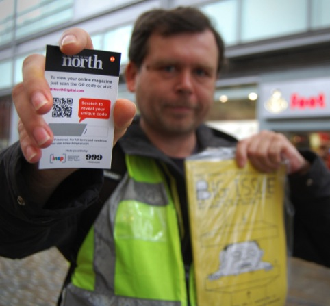 Selling the Big Issue in the North using a QR card