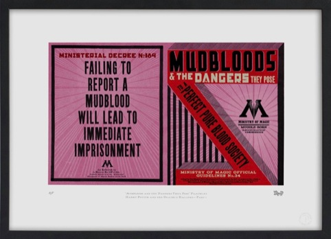 Mudblood pamphlet. Designed for the Ministry of Magic issue in Harry Potter and the Deathly Hallows - Part One