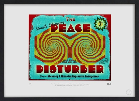 The Peace Disturber. Packaging designed for the Weasleys' Wizard Wheezes store