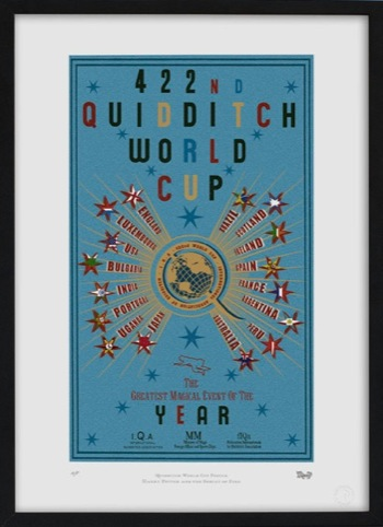 422nd Quidditch World Cup poster. Designed for Harry Potter and the Goblet of Fire