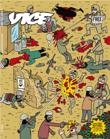 Johnny Ryan's  Afghanistan cartoon, a UK-only cover