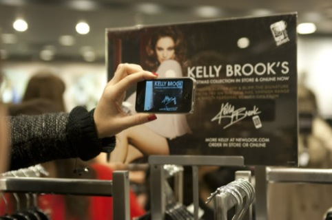 Bippar app engages with point of sale for Kelly Brook's range