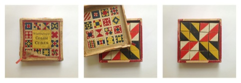 The wooden mosaic toy