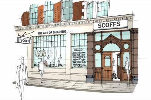 Scoffs exterior sketch