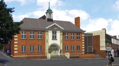 Impression of the new Hitchin Town Hall