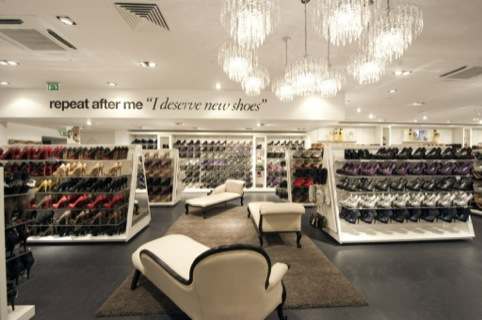 Inside the Marble Arch store